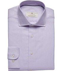 joseph abboud voyager men's pink check modern fit dress shirt - size: 15 1/2 32/33
