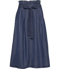 skirts denim knälång kjol blå esprit casual