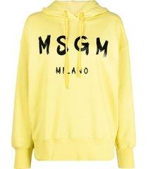 msgm hoodied sweatshirt