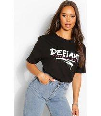 lang defiant t-shirt, zwart