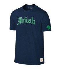 retro brands notre dame fighting irish men's mock twist t-shirt