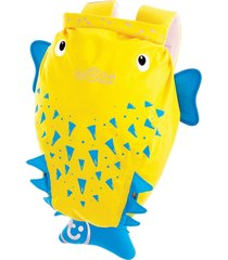 mochila infantil trunki - modelo paddlepak - peixe espinho spike - cor amarelo - tricae