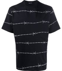 barbed wire print t-shirt