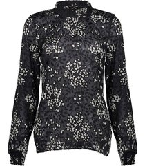 geisha top black/white