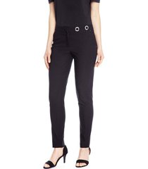 pantalon recto liso negro lorenzo di pontti