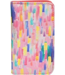 buxton women's abstract rfid pik-me-up snap card case