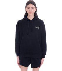 ganni sweatshirt in black cotton