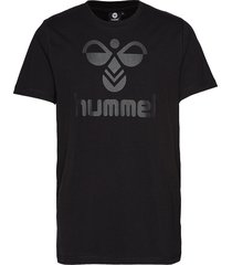 classic bee cotton tee t-shirts short-sleeved svart hummel