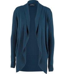 cardigan aperto in filato fine (blu) - bpc bonprix collection