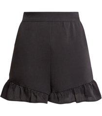 bcbgmaxazria ruffled-hem satin shorts