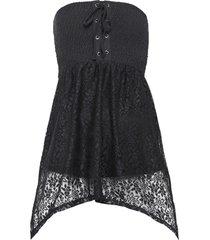 top a fascia con stringatura (nero) - bodyflirt boutique