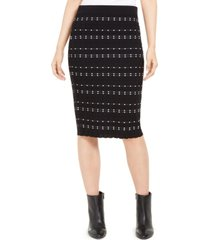 alfani dot-stitch pull-on pencil skirt, created for macy's