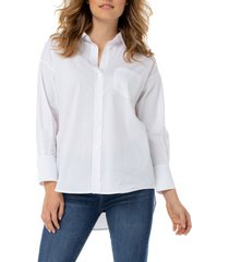 women's liverpool oversize classic button-up shirt, size x-large - white
