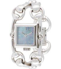 gucci pre-owned pre-owned signoria wrist watch - silver