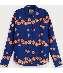 scotch & soda blouse met hawaiiaanse bloemenprint