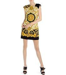 hibiscus print mini dress