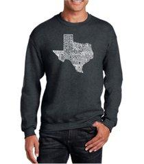 la pop art big & tall men's word art the great state of texas crewneck sweatshirt