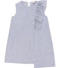 il gufo sleeveless denim dress