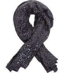 lenço bordado diva cor: cinza - tamanho: único