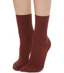 calzedonia - short socks in cotton with cashmere, 36-38, red, women