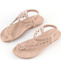 dos colores verano mujer floral casual zapatos planos sandalias de playa zapatillas zapatos
