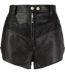ellery lace inserts shorts - black
