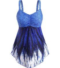 mermaid ruched empire waist tankini swimwear