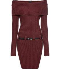 abito in maglia con cintura (rosso) - bodyflirt
