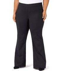 plus size women's pari passu sateen flare pants, size 2 - black