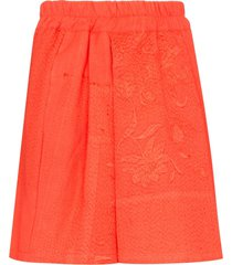 by walid narmin embroidered shorts - orange