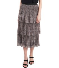 1.state three-tier pleated skirt