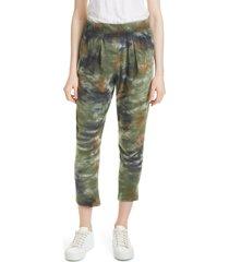women's raquel allegra easy tie dye pants, size 0 - green