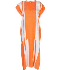 lemlem zoya beach dress - orange