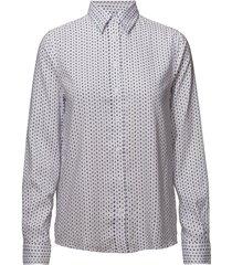 o1. tp oxford printed shirt overhemd met lange mouwen multi/patroon gant