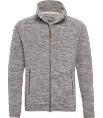 hareid fleece jkt nohood sweat-shirt tröja grå bergans