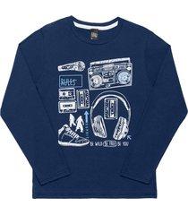 camiseta livy inverno music marinho