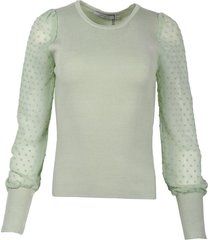 ambika pullover m12292 top dot sleev groen