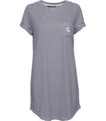lrl sleeptee short sl. nachthemd blauw lauren ralph lauren homewear