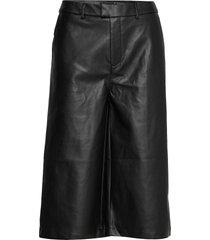 anne pu culotte trousers leather leggings/byxor svart gina tricot