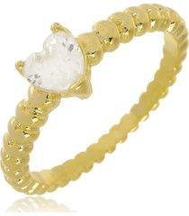 anel brenda coração cristal di capri semi jóias x ouro