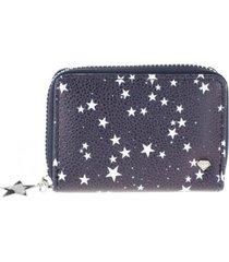 billetera estampado estrellas azul i-d