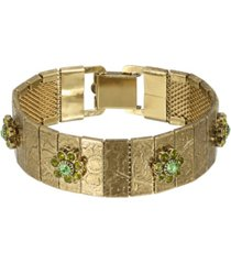 2028 women's brass olivine flower bracelet
