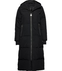 ember coat gevoerde lange jas zwart röhnisch