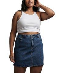 cotton on trendy plus size denim mini skirt