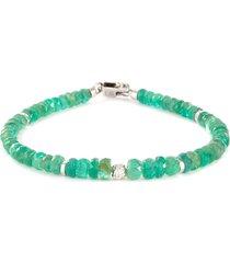 nodo precious' emerald bead bracelet