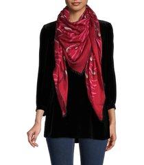valentino garavani women's silk-blend print scarf - nero