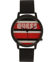 reloj negro-rojo-blanco guess