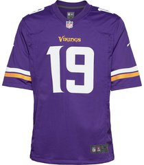 minnesota vikings nike game team colour jersey - player t-shirts short-sleeved lila nike fan gear