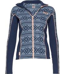 flette fleece sweat-shirt tröja blå kari traa