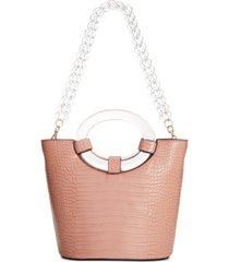 inc tracyy croco-embossed bucket bag, created for macy's